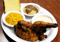 Big Bob Gibson's half Chicken w/Alabama White Sauce on the side - served with choice of 2 Sides and Texas Toast - $9.99