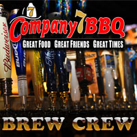 Mondays we tap a special craft beer from 4PM to 10PM for Company 7 Brew Crew members.