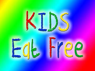 Wednesdays Kids eat free offer