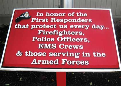 In honor of first responders & our military